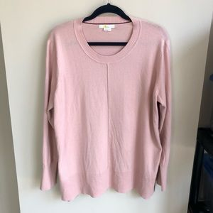 Boden pink open sides tunic sweater size XL